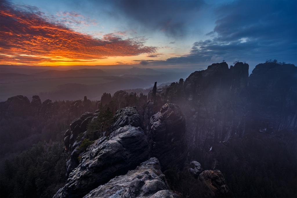 Schrammsteine in der Sächsischen Schweiz